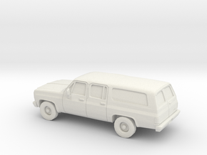 1/87 1973-79 GMC Suburban Split Rear Door in White Natural Versatile Plastic