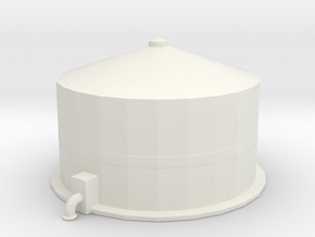 Oil Refinery Container in White Natural Versatile Plastic