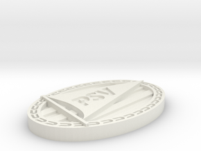 Logo PSV in White Natural Versatile Plastic: Extra Small