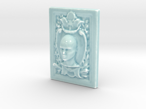 Personalised Millais Relief in Gloss Celadon Green Porcelain