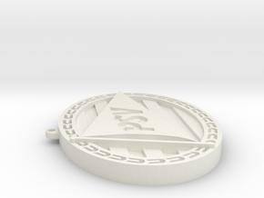 Logo PSV ketting hanger in White Natural Versatile Plastic: Small