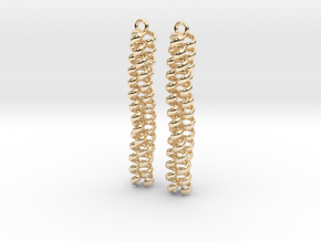 Trimeric coiled coil earrings in 14K Yellow Gold