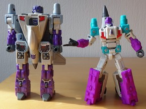 PotP Dreadwind / Darkwing Pointy Fingers Set in White Strong & Flexible Polished