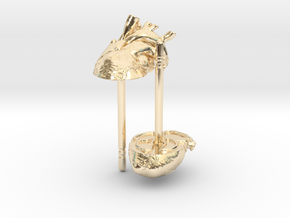 Heart Rhythms: Anatomically-Accurate Post Earrings in 14K Yellow Gold