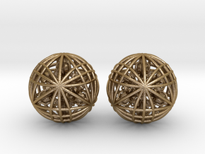 """Two Awesomeness Juggling Balls (2x2.5"""") in Polished Gold Steel"""