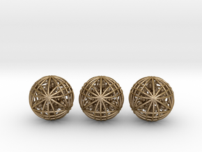 """Three Awesomeness Juggling Balls (3x2.5"""") in Polished Gold Steel"""