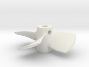"""1.25"""" - PKSP RH in White Natural Versatile Plastic"""