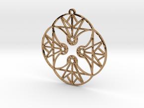 DoodleFan Earring or Pendant (Circle) in Polished Brass