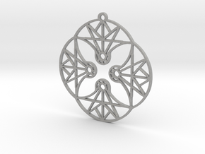 DoodleFan Earring or Pendant (Circle) in Aluminum