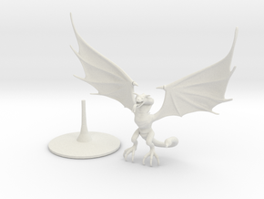 Wyvern (one piece) in White Premium Versatile Plastic