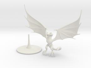 Wyvern (one piece) in White Premium Versatile Plastic