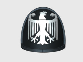 10x German Eagle - G:4a Right Shoulders in Smooth Fine Detail Plastic