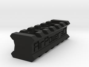 Back-to-Back 6-Slots Picatinny Rails Adapter in Black Premium Versatile Plastic