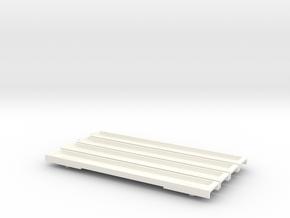 N Gauge 20M 4 Car EMU Floor Set in White Processed Versatile Plastic