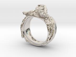 Vampire Bat Ring in Rhodium Plated Brass: 9 / 59
