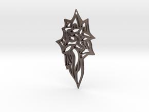 XSENSE pendant top in Polished Bronzed Silver Steel