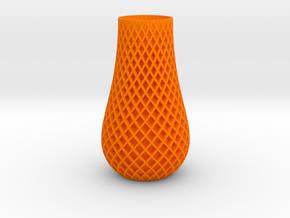Double Spiral Vase in Orange Processed Versatile Plastic: Medium