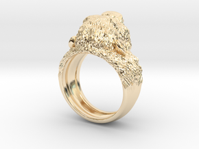 Aggressive Chimpanzee Ring in 14k Gold Plated Brass: 7 / 54