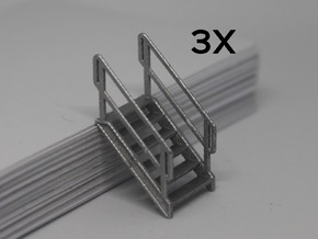 HO 3x Stairs #6 in Smooth Fine Detail Plastic