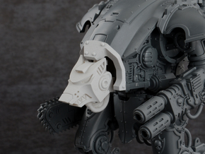 Mini Knight - Wolf Head & Cowl in Smoothest Fine Detail Plastic