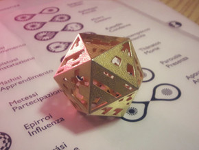 Plato's Icosahedron - The One in Matte Gold Steel