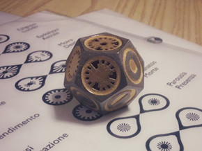 Plato's Dodecahedron - Universo in Matte Gold Steel