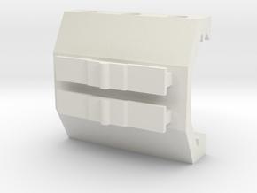 Contour Action Cam Picatinny Mount Adapter in White Premium Versatile Plastic