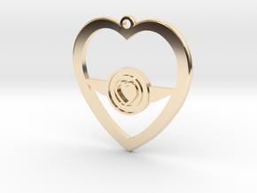 SWA Heart Charm in 14K Yellow Gold