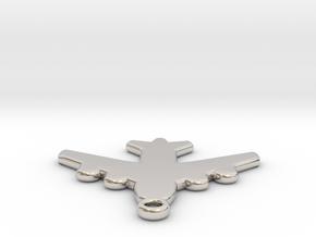 Flat Airplane Charm in Platinum