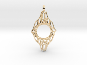 Mesh 7 Pendant in 14k Gold Plated Brass