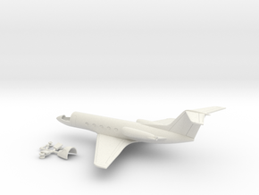 046B Grumman Gulfstream II 1/200 in White Natural Versatile Plastic