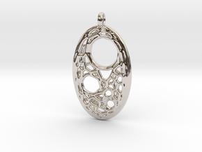 Oval Pendant 5 in Platinum