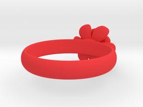 Flower Ring in Red Processed Versatile Plastic