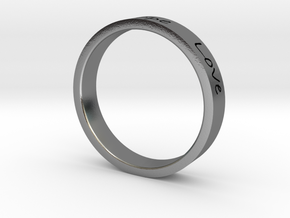Faith Hope Love Ring in Polished Silver
