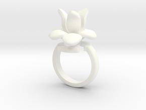 iris RING in White Processed Versatile Plastic: 8 / 56.75