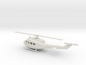 1/87 Scale UH-1D Model  in White Natural Versatile Plastic