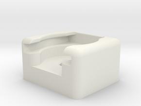 "Hot Shue Mount 1/4"" in White Natural Versatile Plastic"