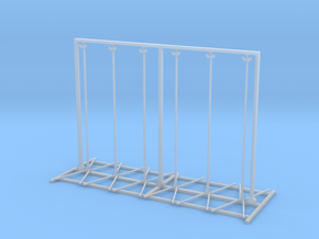 Twin Flex Rigid And Roll Up Sign Stand 1-87 HO Sca in Smooth Fine Detail Plastic