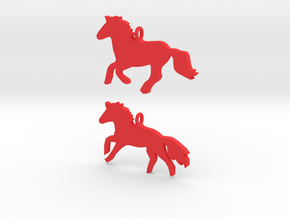 Horses earrings in Red Strong & Flexible Polished