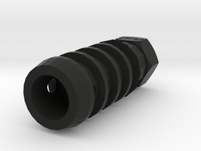 T-37 PT Muzzle Suppressor (14mm-) in Black Natural Versatile Plastic