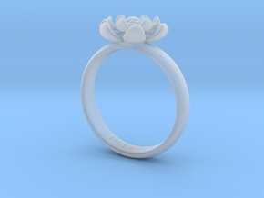 Flower Ring in Smooth Fine Detail Plastic