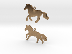 Horses earrings in Natural Brass: 28mm