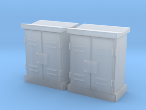 1:64 2 Relay Cabinets #4 in Smooth Fine Detail Plastic