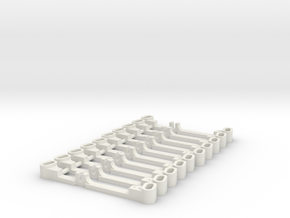 SET BARRES DIRECTION-V2 in White Natural Versatile Plastic
