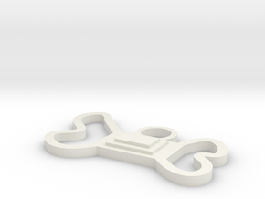 Bone-Tie Large: for your canine family members in White Natural Versatile Plastic
