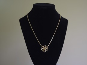 Octopus pendant necklace in Natural Brass