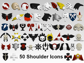Xenos Hunter Shoulder Icons x50 in Smooth Fine Detail Plastic
