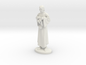 Presto the Magician Miniature in White Natural Versatile Plastic: 1:55