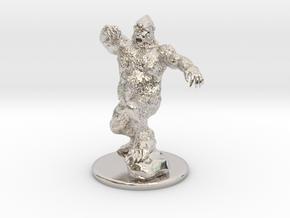 Yeti Miniature in Platinum: 1:60.96