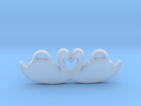 Swans Forming a Heart in Smooth Fine Detail Plastic